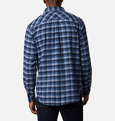 Camisa de franela elástica Flare Gun para hombre Flare Gun™ Stretch Flannel | 369 | S, Night Tide Grid Plaid, back