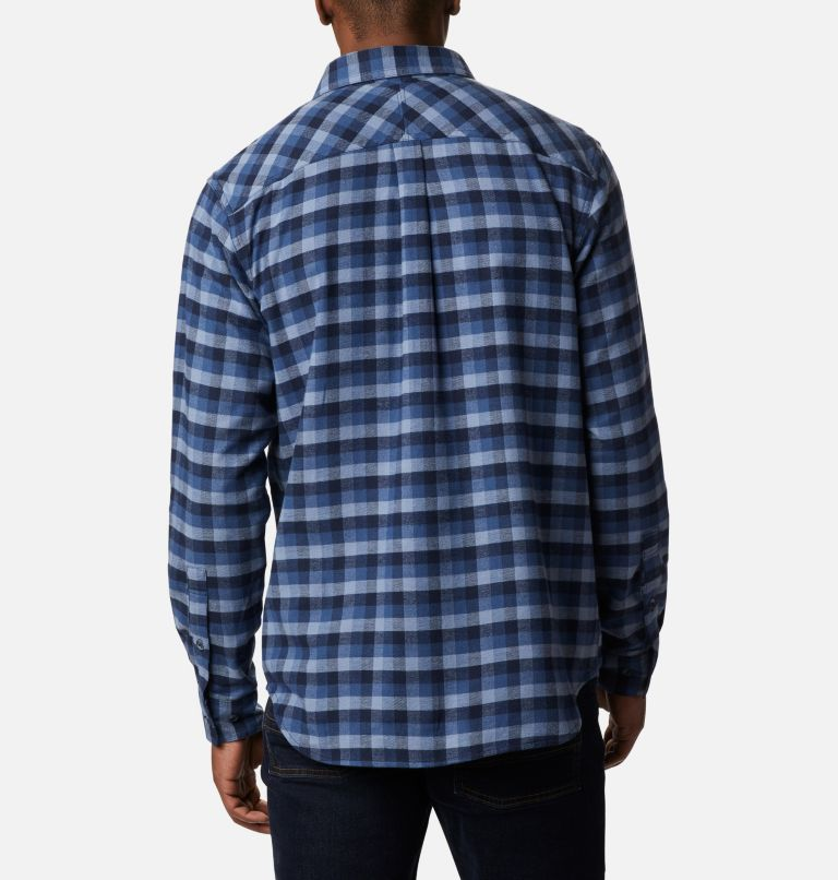 Flare Gun™ Stretch Flannel | 452 | L Camicia Flare Gun Stretch Flannel da uomo, Night Tide Grid Plaid, back
