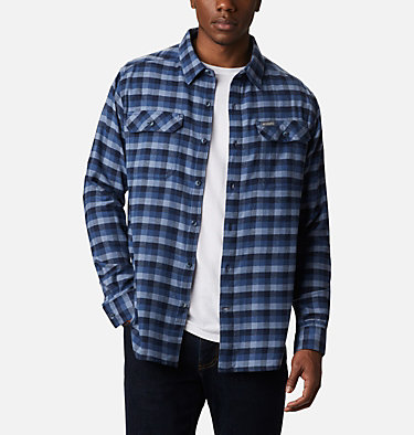 Men's Flare Gun Stretch Flannel Shirt Flare Gun™ Stretch Flannel | 369 | S, Night Tide Grid Plaid, front