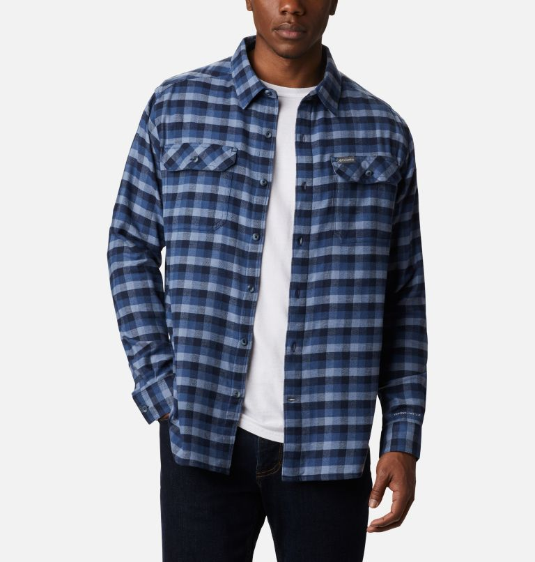 Flare Gun™ Stretch Flannel | 452 | L Camicia Flare Gun Stretch Flannel da uomo, Night Tide Grid Plaid, front