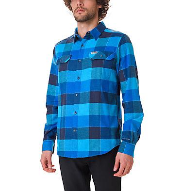 Men's Flare Gun Stretch Flannel Shirt Flare Gun™ Stretch Flannel | 011 | L, Azure Blue Big Check, front