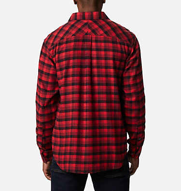 Men's Flare Gun Stretch Flannel Shirt Flare Gun™ Stretch Flannel | 369 | S, Red Jasper Grid Plaid, back