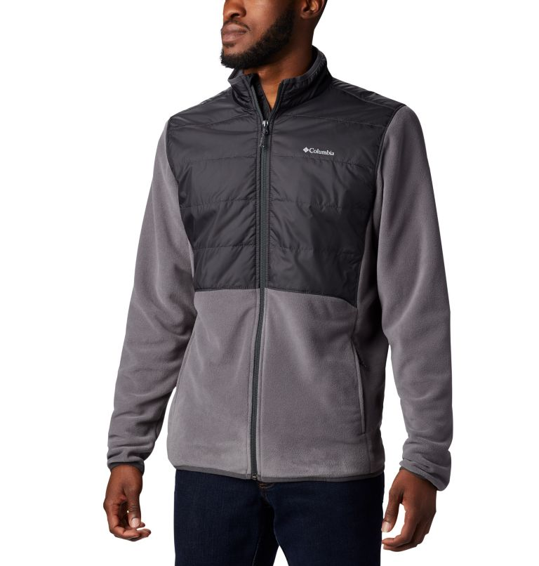 Basin Butte™ Fleece Full Zip | 023 | L Men's Basin Butte™ Fleece Full Zip Jacket, City Grey, Shark, front