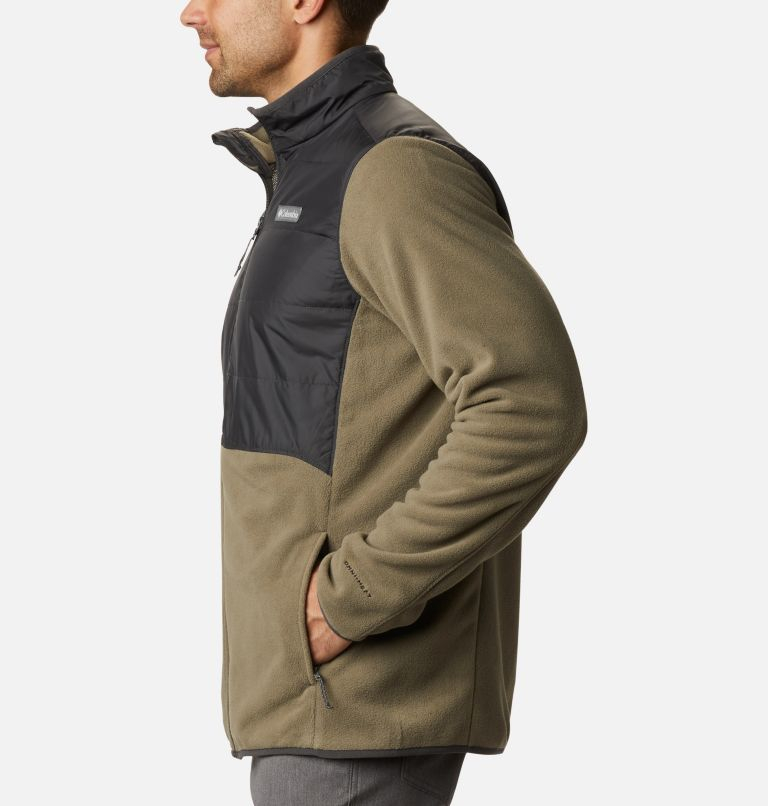 Basin Butte™ Fleece Full Zip | 397 | L Men's Basin Butte™ Fleece Full Zip Jacket, Stone Green, Shark, a1
