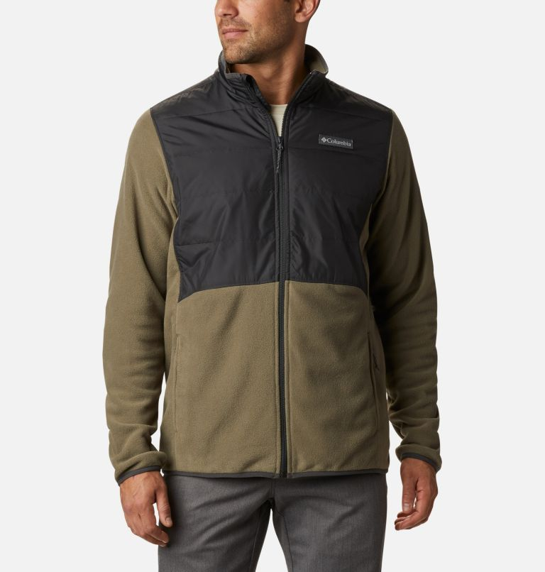 Basin Butte™ Fleece Full Zip | 397 | L Men's Basin Butte™ Fleece Full Zip Jacket, Stone Green, Shark, front
