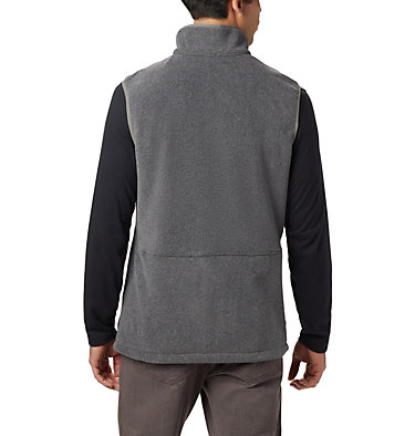 Men's Basin Trail™ Fleece Vest - Big Basin Trail™ Fleece Vest | 030 | 1X, Charcoal Heather, back