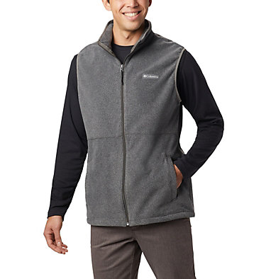 Men's Basin Trail™ Fleece Vest - Big Basin Trail™ Fleece Vest | 030 | 1X, Charcoal Heather, front
