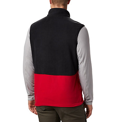 Men's Basin Trail™ Fleece Vest - Big Basin Trail™ Fleece Vest | 030 | 1X, Mountain Red, Black, back