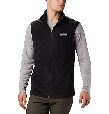 Men's Basin Trail™ Fleece Vest - Tall Basin Trail™ Fleece Vest | 030 | 2XT, Black, front