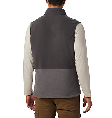 Men's Basin Trail™ Fleece Vest - Tall Basin Trail™ Fleece Vest | 030 | 2XT, City Grey, Shark, back