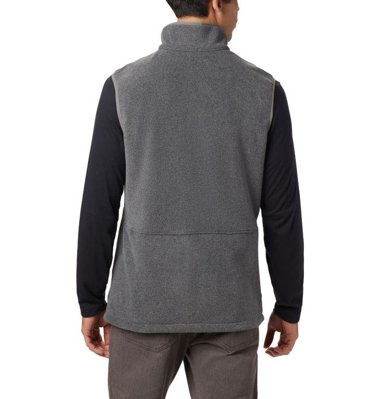 Basin Trail™ Fleece Vest | 030 | 3XT Men's Basin Trail™ Fleece Vest - Tall, Charcoal Heather, back