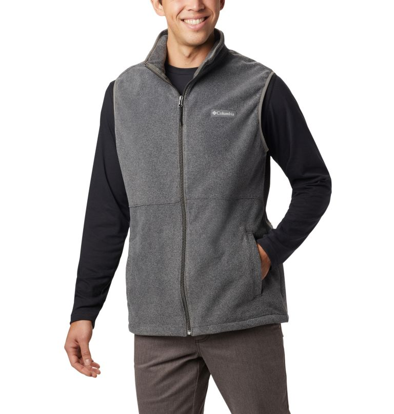 Basin Trail™ Fleece Vest | 030 | 3XT Men's Basin Trail™ Fleece Vest - Tall, Charcoal Heather, front