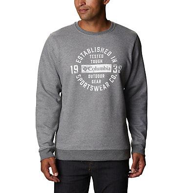 Men's Hart Mountain™ Graphic Sweatshirt Hart Mountain™ Graphic Crew | 012 | M, Charcoal Heather Tough, front