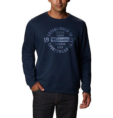 Men's Hart Mountain™ Graphic Sweatshirt Hart Mountain™ Graphic Crew | 012 | M, Collegiate Navy Heather Tough, front