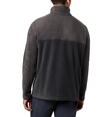 Men's Steens Mountain™ Half Snap Fleece Pullover Steens Mountain™ Half Snap | 630 | S, Charcoal Heather, Shark, back