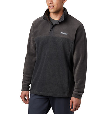Men's Steens Mountain™ Half Snap Fleece Pullover Steens Mountain™ Half Snap | 630 | S, Charcoal Heather, Shark, front