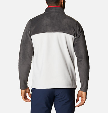 Men's Steens Mountain™ Half Snap Fleece Pullover Steens Mountain™ Half Snap | 370 | S, Nimbus Grey, Shark, Mountain Red, back