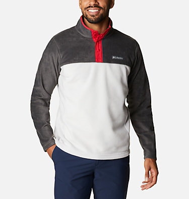 Men's Steens Mountain™ Half Snap Fleece Pullover Steens Mountain™ Half Snap | 370 | S, Nimbus Grey, Shark, Mountain Red, front