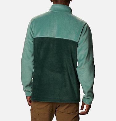 Men's Steens Mountain™ Half Snap Fleece Pullover Steens Mountain™ Half Snap | 370 | S, Spruce, Thyme Green, Aqua Tone, back