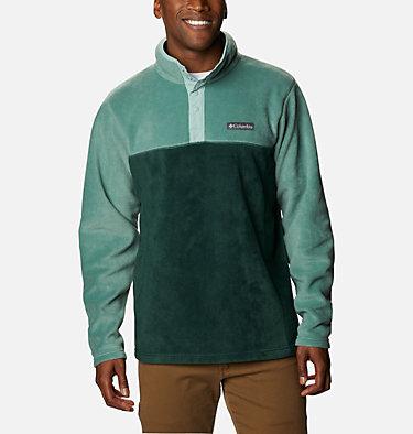 Men's Steens Mountain™ Half Snap Fleece Pullover Steens Mountain™ Half Snap | 370 | S, Spruce, Thyme Green, Aqua Tone, front