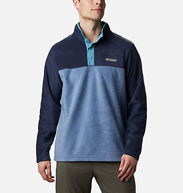 Men's Steens Mountain™ Half Snap Fleece Pullover Steens Mountain™ Half Snap | 630 | S, Bluestone, Collegiate Navy, Canyon Blue, front