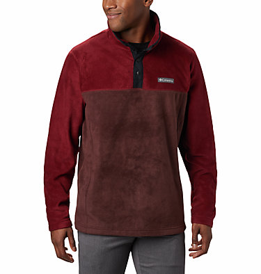 Men's Steens Mountain™ Half Snap Fleece Pullover Steens Mountain™ Half Snap | 630 | S, Red Lodge, Red Jasper, Black, front