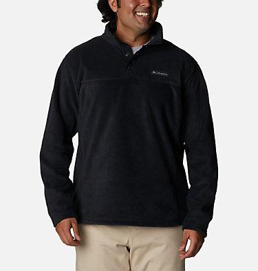 Men's Steens Mountain™ Half Snap Fleece Pullover - Big Steens Mountain™ Half Snap | 464 | 2X, Black, front