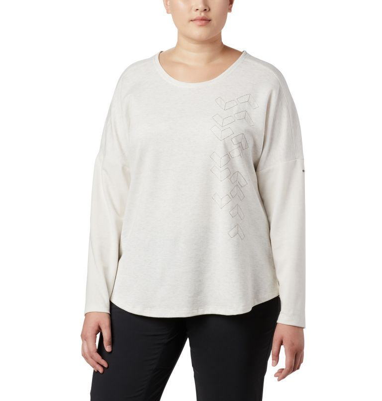 Women's Times Two™ Novelty Knit Long Sleeve Shirt - Plus Size Women's Times Two™ Novelty Knit Long Sleeve Shirt - Plus Size, front