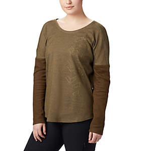 Women's Times Two™ Novelty Knit Long Sleeve Shirt - Plus Size