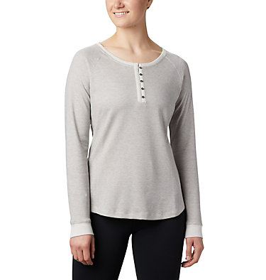 Women's Times Two™ Knit Henley Top Times Two™ Knit Henley | 580 | L, Chalk, front