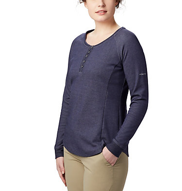 Women's Times Two™ Knit Henley Top Times Two™ Knit Henley | 580 | L, Dark Nocturnal, front