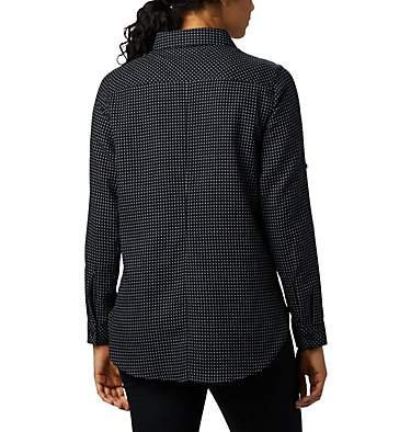 Women's Times Two™ Long Sleeve Tunic Times Two™ LS Tunic | 523 | L, Black Dobby, back