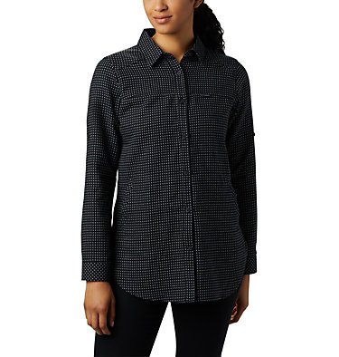 Women's Times Two™ Long Sleeve Tunic Times Two™ LS Tunic | 523 | L, Black Dobby, front