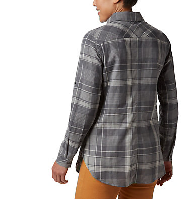 Women's Times Two™ Long Sleeve Tunic Times Two™ LS Tunic | 523 | L, City Grey Plaid, back
