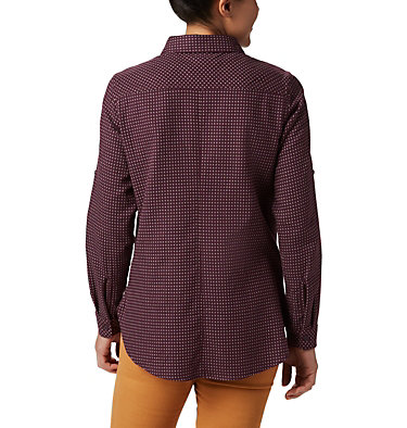 Women's Times Two™ Long Sleeve Tunic Times Two™ LS Tunic | 523 | L, Black Cherry Dobby, back