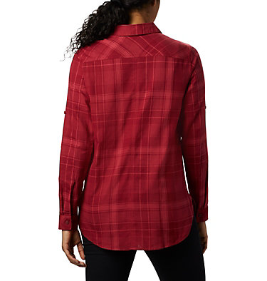 Women's Times Two™ Long Sleeve Tunic Times Two™ LS Tunic | 523 | L, Beet Plaid, back