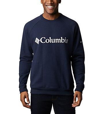 Men's Columbia Lodge™ Crew - Big Columbia Lodge™ Crew   039   1X, Collegiate Navy, White, front