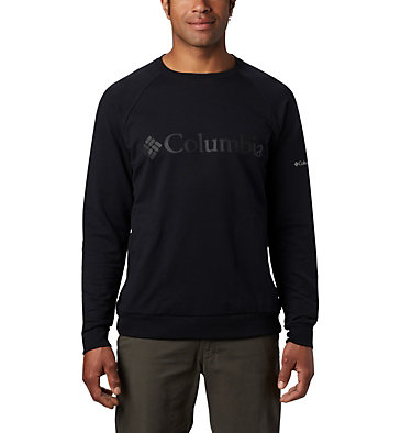 Men's Columbia Lodge™ Crew - Tall Columbia Lodge™ Crew | 039 | 2XT, Black, front