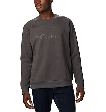 Men's Columbia Lodge™ Crew - Tall Columbia Lodge™ Crew | 465 | 2XT, Shark Heather, front