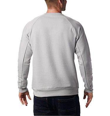 Men's Lodge™ Crew Columbia Lodge™ Crew | 160 | L, Columbia Grey Heather, Azure Blue, back