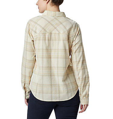 Women's Times Two™ Corduroy Long Sleeve Shirt Times Two™ Corduroy LS Shirt | 375 | L, Chalk Plaid, back