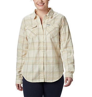 Women's Times Two™ Corduroy Long Sleeve Shirt Times Two™ Corduroy LS Shirt | 375 | L, Chalk Plaid, front