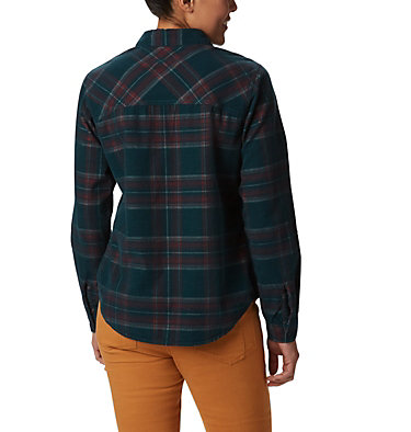Women's Times Two™ Corduroy Long Sleeve Shirt Times Two™ Corduroy LS Shirt | 375 | L, Dark Seas Plaid, back