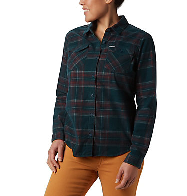 Women's Times Two™ Corduroy Long Sleeve Shirt Times Two™ Corduroy LS Shirt | 375 | L, Dark Seas Plaid, front