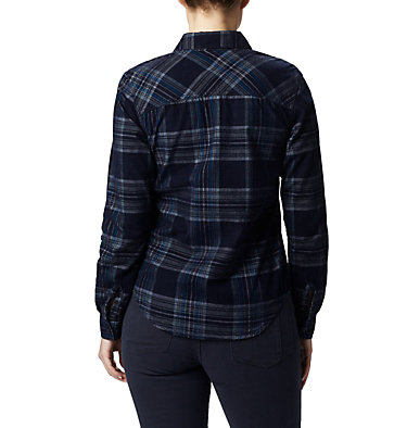 Women's Times Two™ Corduroy Long Sleeve Shirt Times Two™ Corduroy LS Shirt | 375 | L, Dark Nocturnal Plaid, back