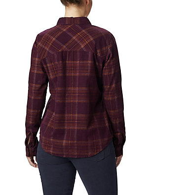 Women's Times Two™ Corduroy Long Sleeve Shirt Times Two™ Corduroy LS Shirt | 375 | L, Black Cherry Plaid, back