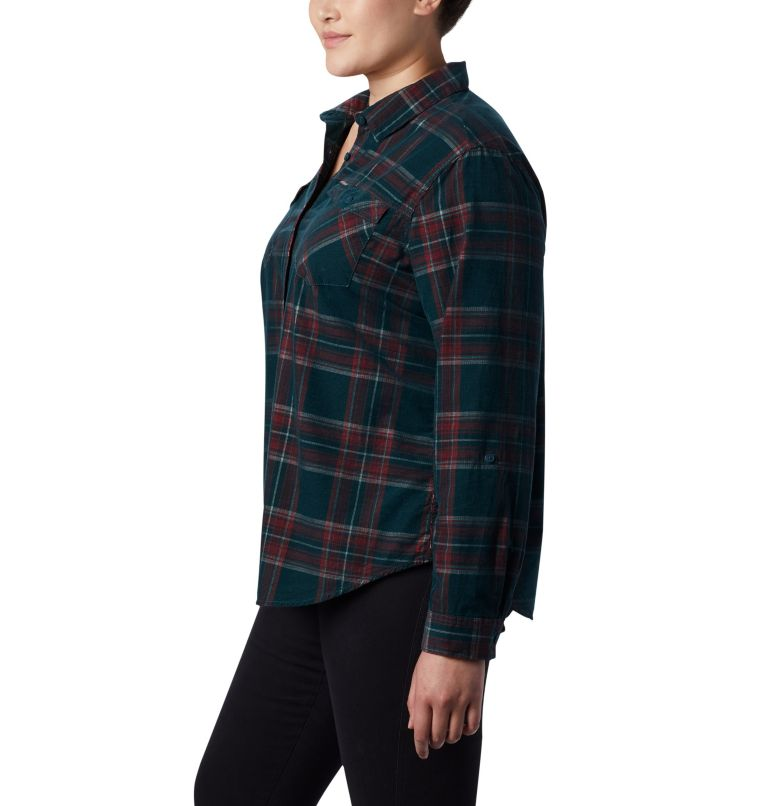 Women's Times Two™ Corduroy Long Sleeve Shirt - Plus Size Women's Times Two™ Corduroy Long Sleeve Shirt - Plus Size, a1