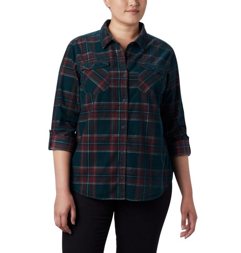Women's Times Two™ Corduroy Long Sleeve Shirt - Plus Size Women's Times Two™ Corduroy Long Sleeve Shirt - Plus Size, a3