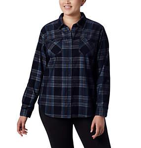 Chemise à manches longues en velours côtelé Times Two™ pour femme