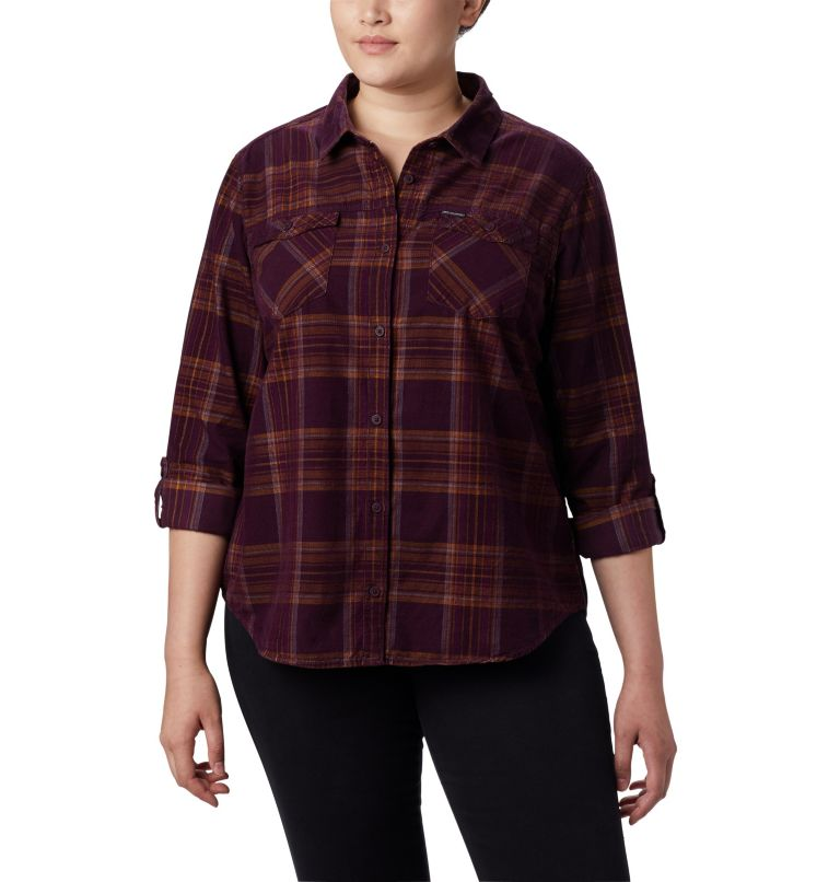 Women's Times Two™ Corduroy Long Sleeve Shirt - Plus Size Women's Times Two™ Corduroy Long Sleeve Shirt - Plus Size, a3